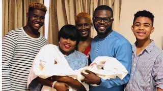 Finally Funke Akindele And Her Husband JJCSkills Pose For The Cam With There Adorable Twins