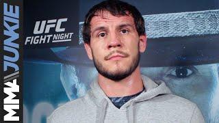 Nikita Krylov talks to media after UFC Vancouver open workout