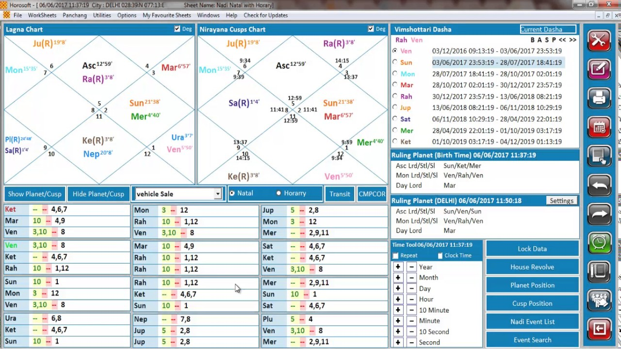 Horosoft Astrology Software Pro 5.0 Birth time Rectification With ...