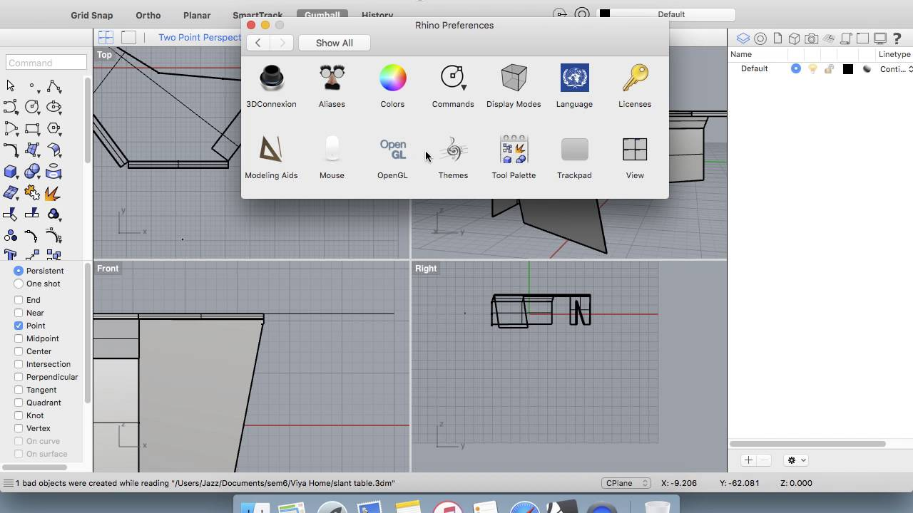 Rhino Windows Interface on a Mac
