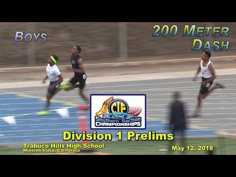 2018 TF - CIF-ss Prelims (D1) - 200 (Boys, 5 Heats)