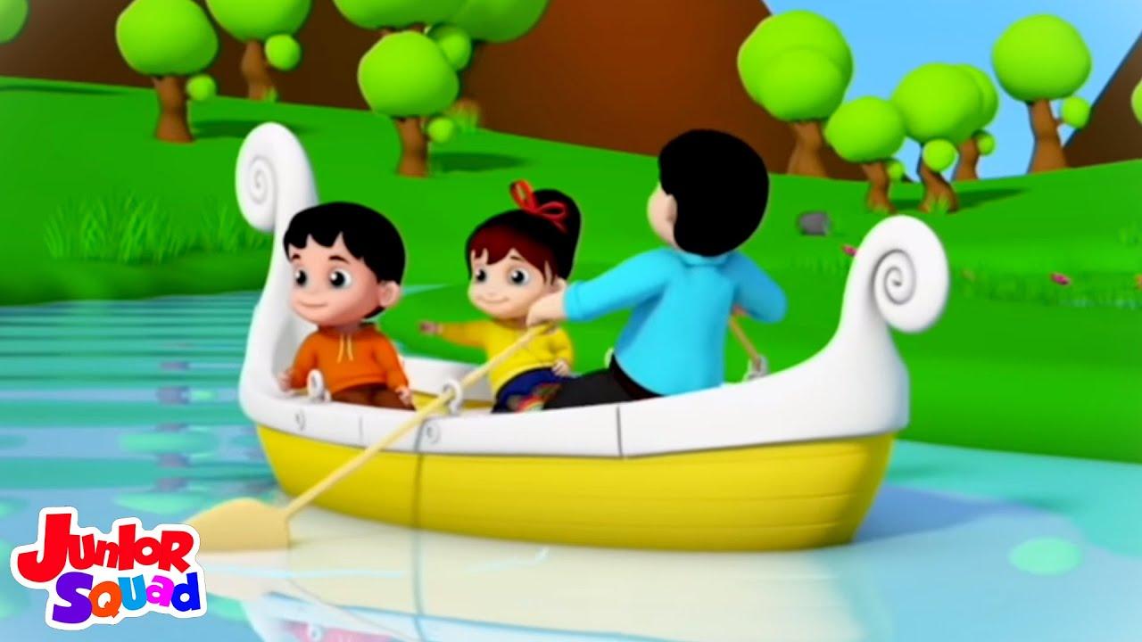 Baris baris baris perahumu | Lagu anak anak | Junior Squad Indonesia | Video prasekolah | Animasi