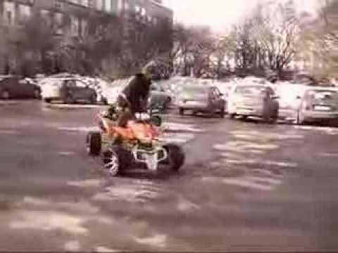 запуск двигателя от квадроцикла - YouTube
