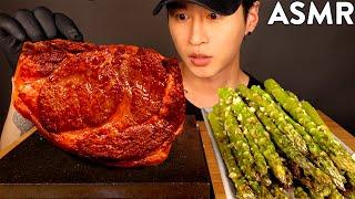 ASMR KOBE WAGYU &amp GARLIC ASPARAGUS MUKBANG (No Talking) COOKING &amp EATING SOUNDS  Zach Choi ASMR