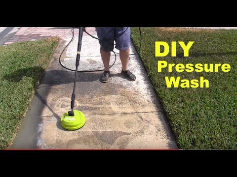 Electric Pressure Washer And Surface