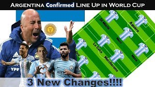 Argentina WORLD CUP Lineup Confirmed!!Argentina Squad World Cup 2018