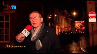 Start Bossche lichtjesprocessie 2014 - Parade naar Markt