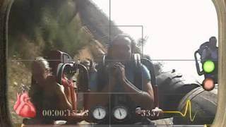 Бешеный аттракцион в парке Порт Авентура в Испании