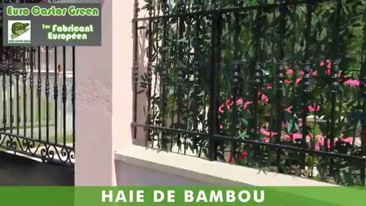 Haie de bambou artificielle youtube for Bambou haie de jardin