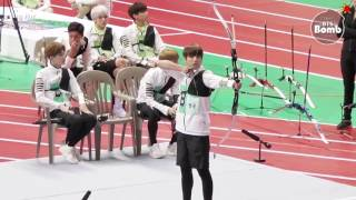 [ENG SUB] [BANGTAN BOMB] BTS' Archery episode @ 2016 ISAC