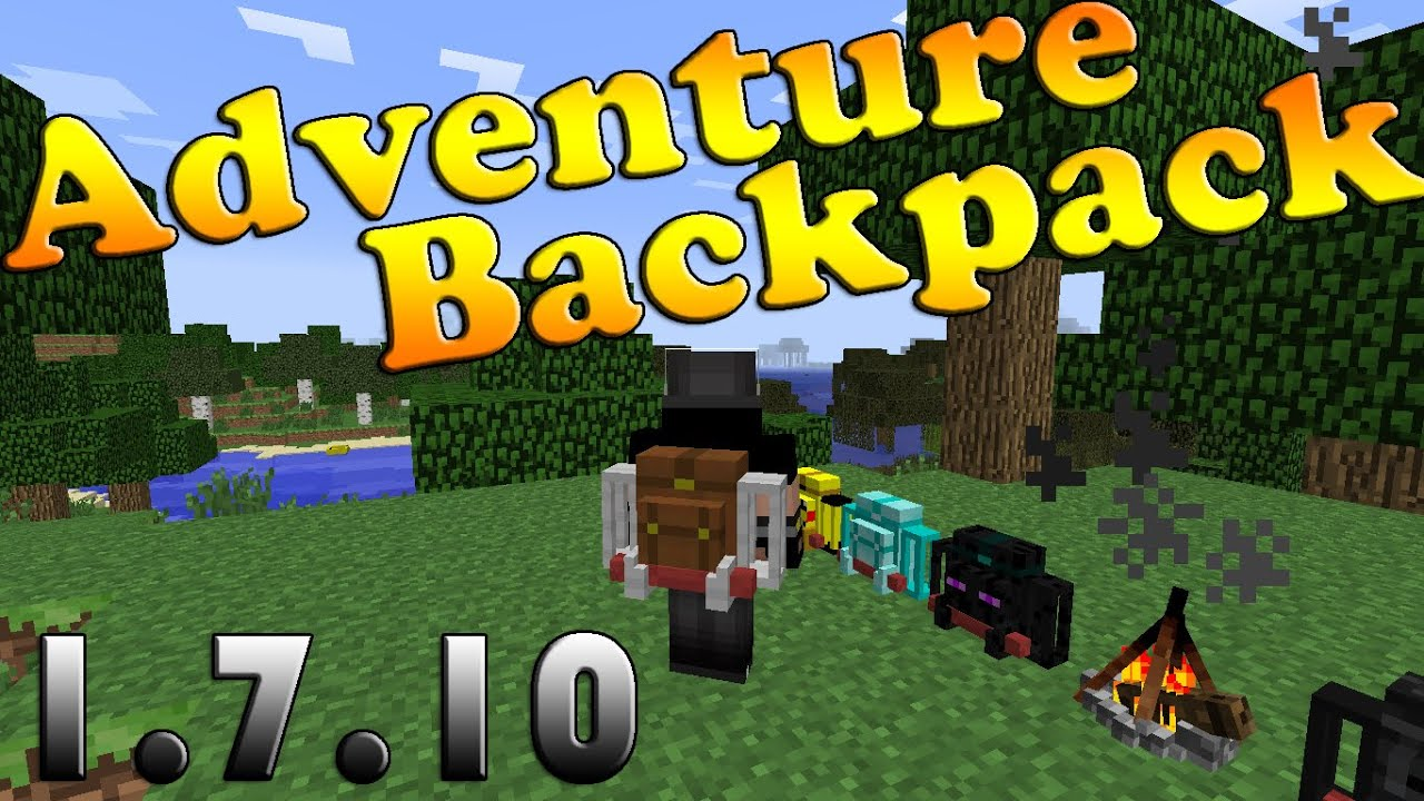 how to use the adventure backpack mod