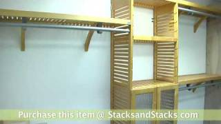 Deluxe Wooden Closet System At Stacks And Stacks