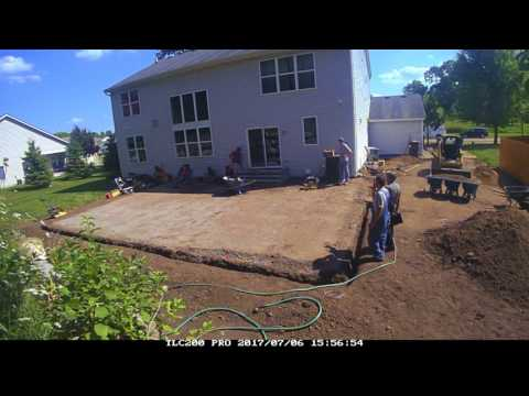 Backyard Patio, Steps & Landscaping Project from Start to Finish!