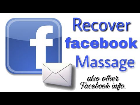 How To Recover Deleted Facebook Messages /recovery Of Facebook Account Massage