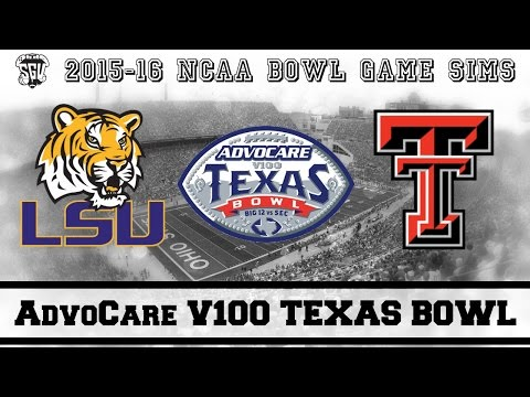 AdvoCare V100 Texas Bowl Sim (LSU Vs Texas Tech) - NCAA 14