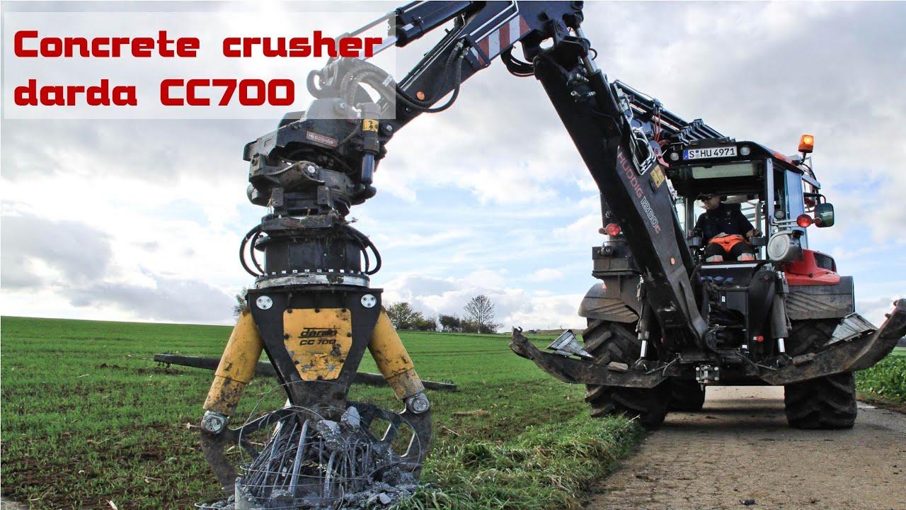 Demolition Concrete Poles : Concrete crusher darda cc econtech youtube