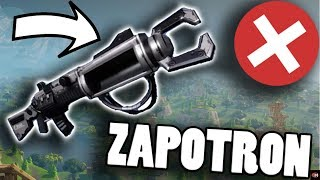 NO ZAPOTRON SNIPER IN FORTNITE BATTLE ROYALE! + PROOF | Fortnite Zapatron Sniper