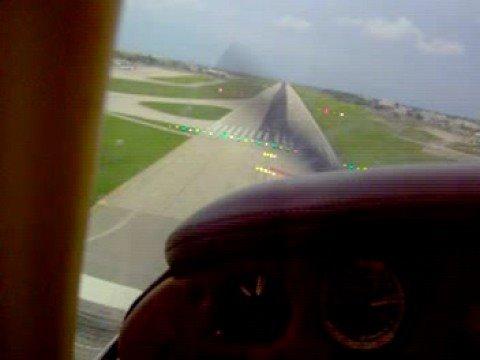 piper pa 28 Warrior II landing at Luqa Airport (Malta)