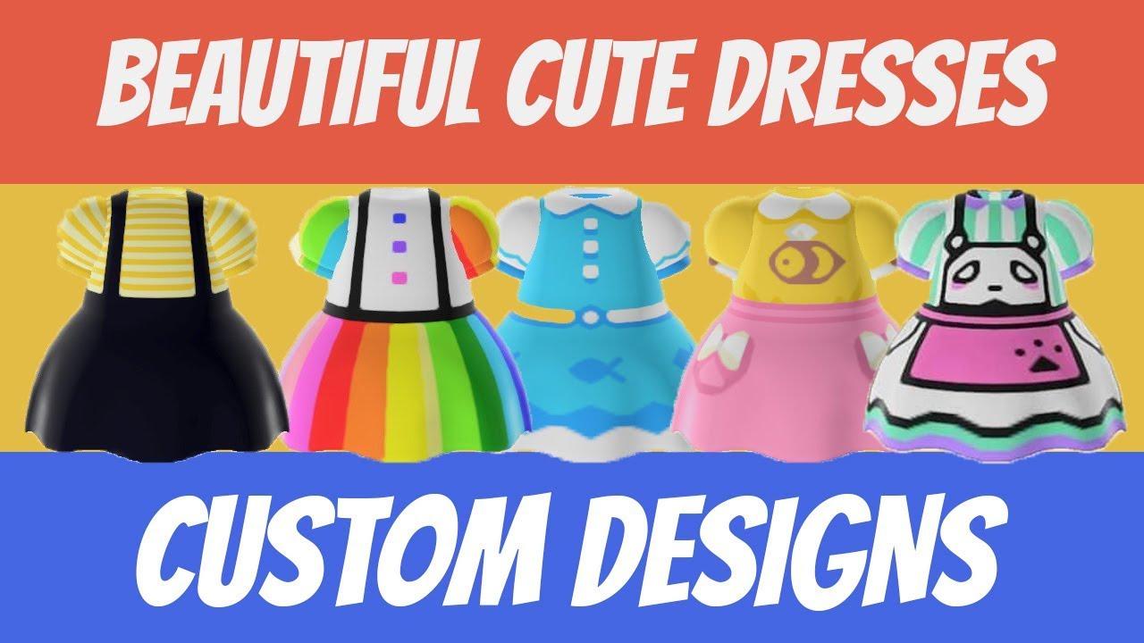 Top 60 Cute Dress Custom Designs In Animal Crossing New Horizons Design Id Code Youtube