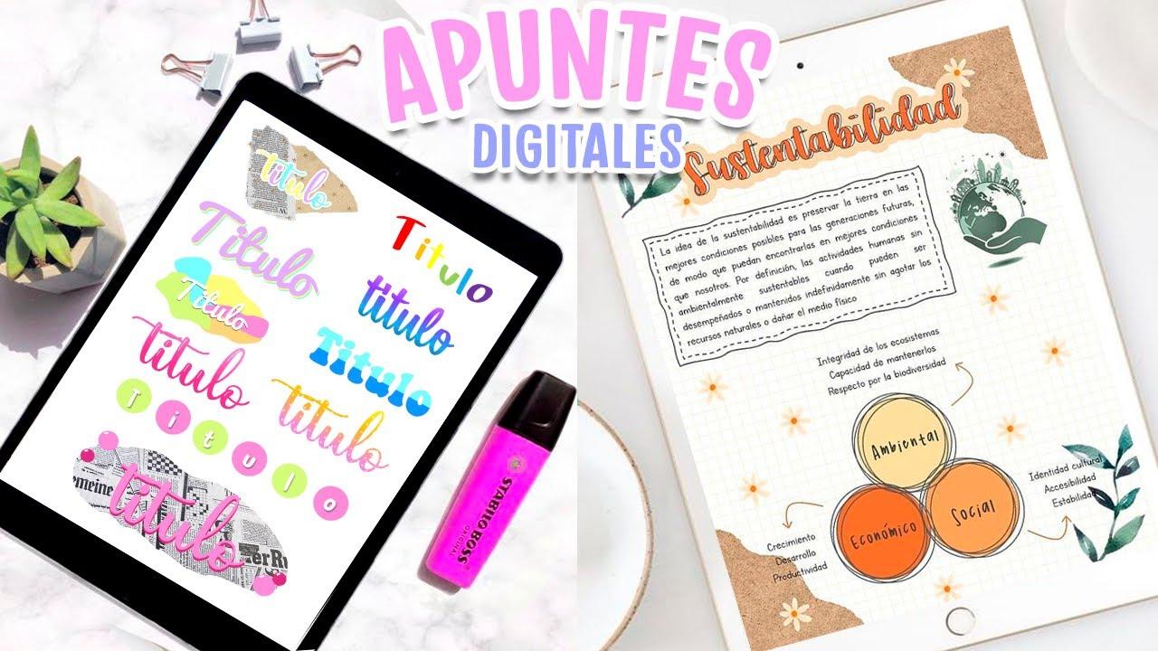 10 IDEAS PARA HACER TAREAS Y APUNTES DIGITALES USANDO WORD ❤️ TITULOS BONITOS Y FACILES