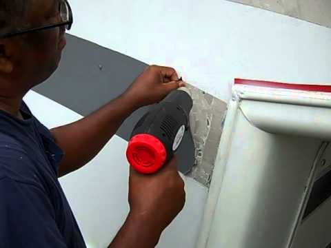 Removing Vinyl Graphics With A Heat Gun Youtube