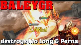 Summoners War - Baleygr Destroyed Mo Long and Perna in World Arena!