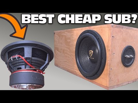 "CHEAP $100 Subwoofer TEST w/ 12"" Rockville K9 Car Audio Sub | Aero-Ported Box SPL Bass Testing"