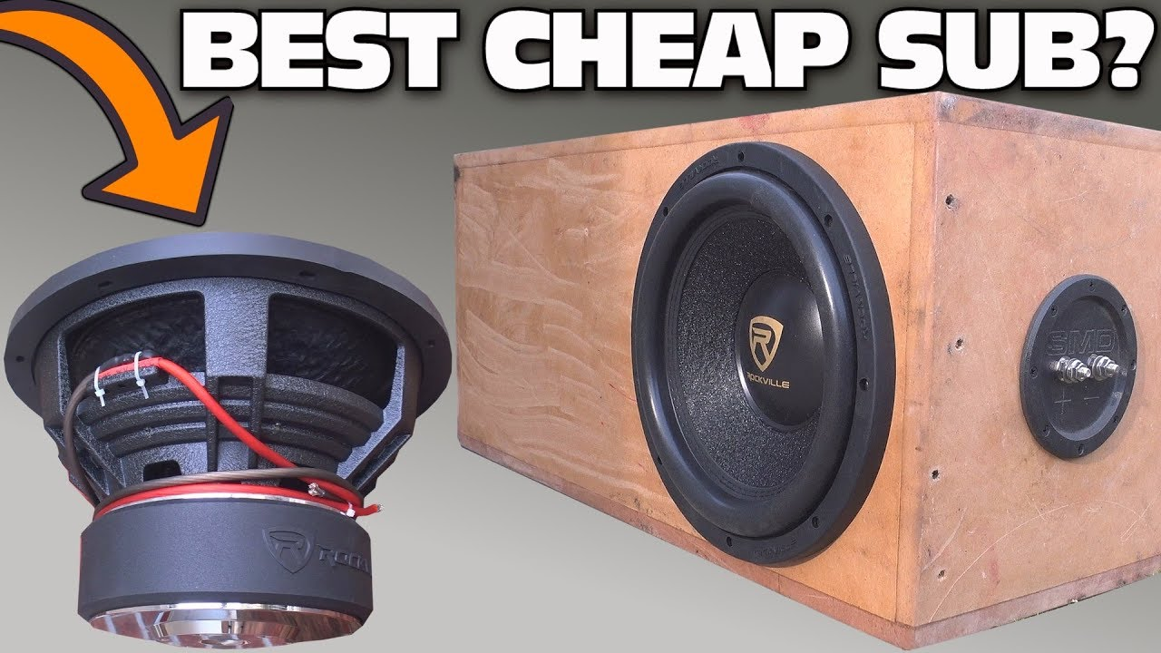 cheap 100 subwoofer test w 12 rockville k9 car audio. Black Bedroom Furniture Sets. Home Design Ideas