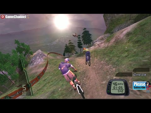 Downhill Domination - Ps2 Bike Race Games - Mountain Biking Game - Gameplay Video