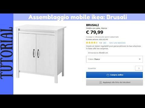 Armadio Ikea Bianco 2 Ante.Tutorial Montaggio Mobile Con Ante Bianco Ikea Brusali Youtube