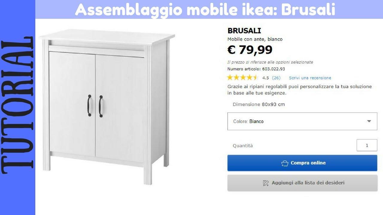 Tutorial Montaggio Mobile Con Ante Bianco Ikea Brusali Youtube