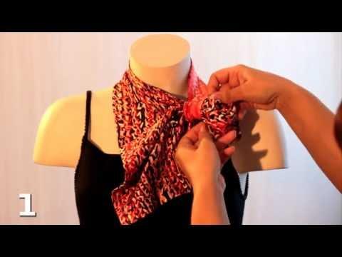 Как завязать французскую косынку на шее
