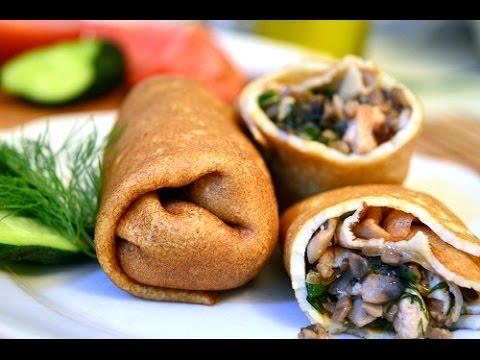 Блинчики с курицей и грибами| Chicken & mushrooms crepes