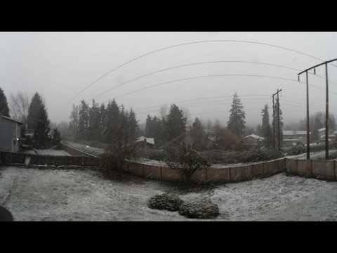 Snowfall in Newcastle, WA on 12/5/2016 in VR