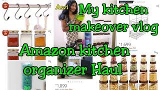 Amazon kitchen organizer Haul Must have organizers in kitchen? My small kitchen makeover vlog Asvi