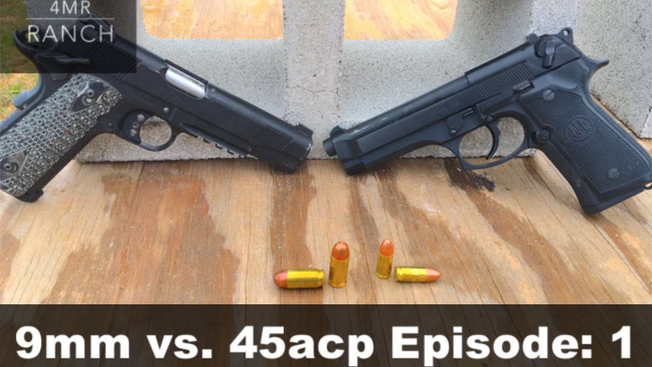 9mm vs  45 acp Cinder Block Penetration Test