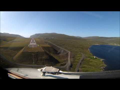 FAROE ISLANDS waterfall approach Landing from Iceland 7th Aug 2013