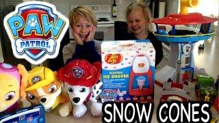 "PAW PATROL ""Snow Cones"" with Paw Patrol Toys & Jelly Belly Snow Cone Maker ""a Paw Patrol parody"""