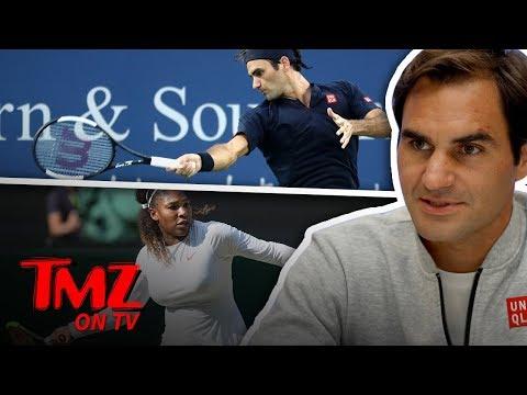 Roger Federer Not Sure He'd Beat Serena Williams 1-On-1? | TMZ TV