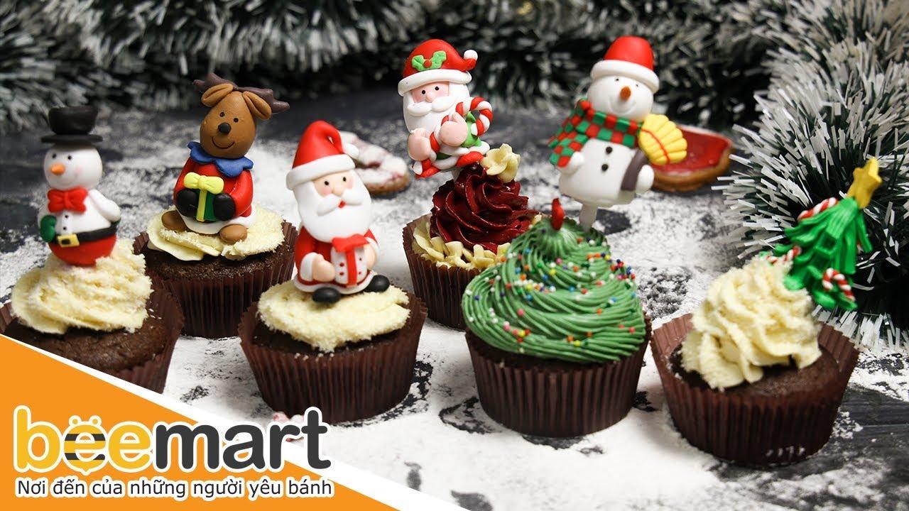 Hướng dẫn cách làm Christmas Cupcake – BEEMART