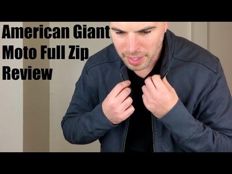 American Giant Moto Full Zip Jacket Review
