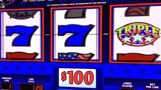 HIGH LIMIT JACKPOT ON TRIPLE STARS  ★ HIGH LIMIT HANDPAYS! ★ TRIPLE DOUBLE STARS ★ HAPPY 4th OF JULY