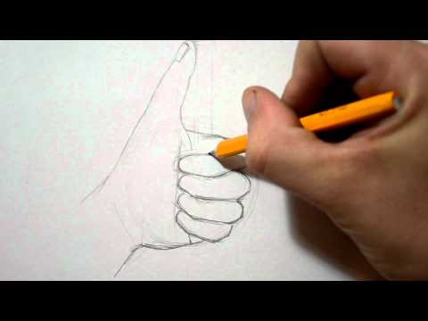 How to Draw a Hand - Thumbs Up Sign