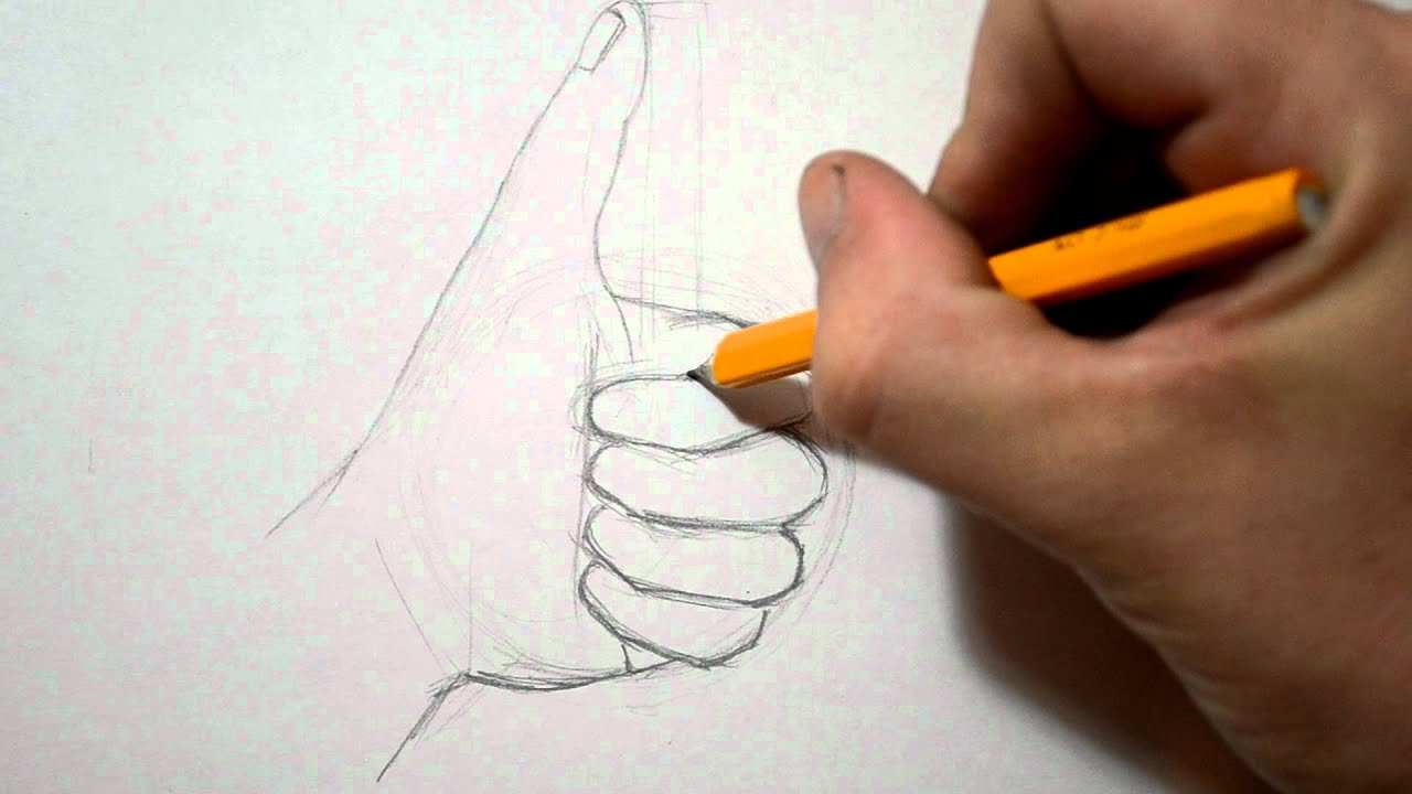 How to Draw a Hand - Thumbs Up Sign - YouTube