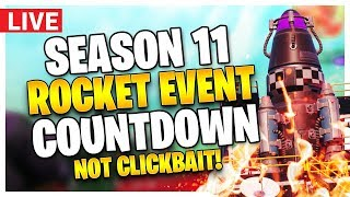 🔴 FORTNITE ROCKET EVENT & SEASON 11 HAPPENING NOW - NO CLICKBAIT - THE END - CHAPTER 2