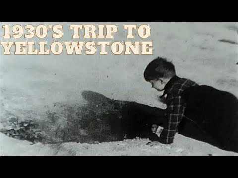 1930s Family Trip To Yellowstone Old Faithful - Punch Bowl Spring - Grotto Geyser - Mortar Geyser