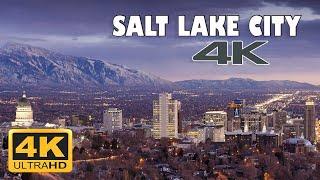 Salt Lake City, Utah, USA 🇺🇸   4K Drone Footage