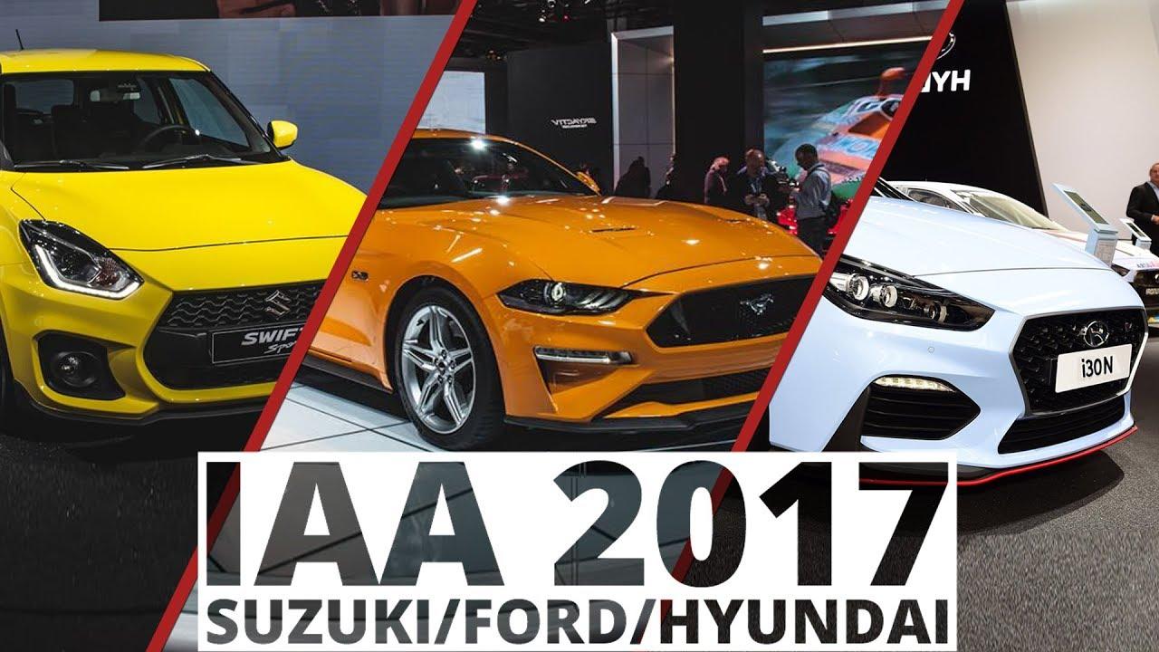 Frankfurt 2017 - Suzuki, Ford, Hyundai