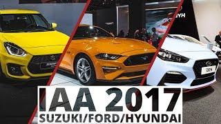 Frankfurt 2017 Suzuki, Ford, Hyundai