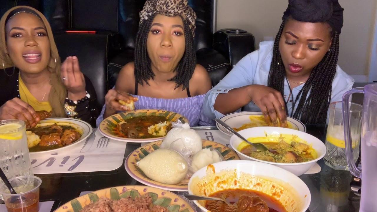 African Food Mukbang!!!! (Fufu, Semolina, Kafa & Waayke)